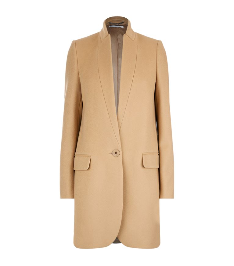 Stella Mccartney Wools Bryce Signature Single-Breasted Coat