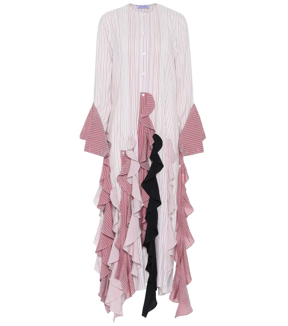 Striped silk maxi dress