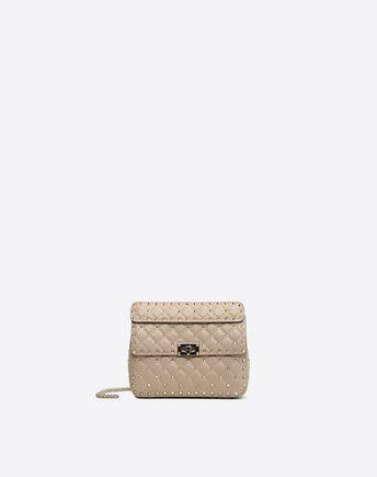 'Rockstud Spike' Medium leather bag