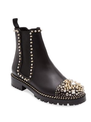 Chasse A Clou Studded Cap Toe Chelsea Booties