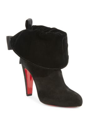 KRISTOFA 100 BOW-EMBELLISHED SUEDE ANKLE BOOTS