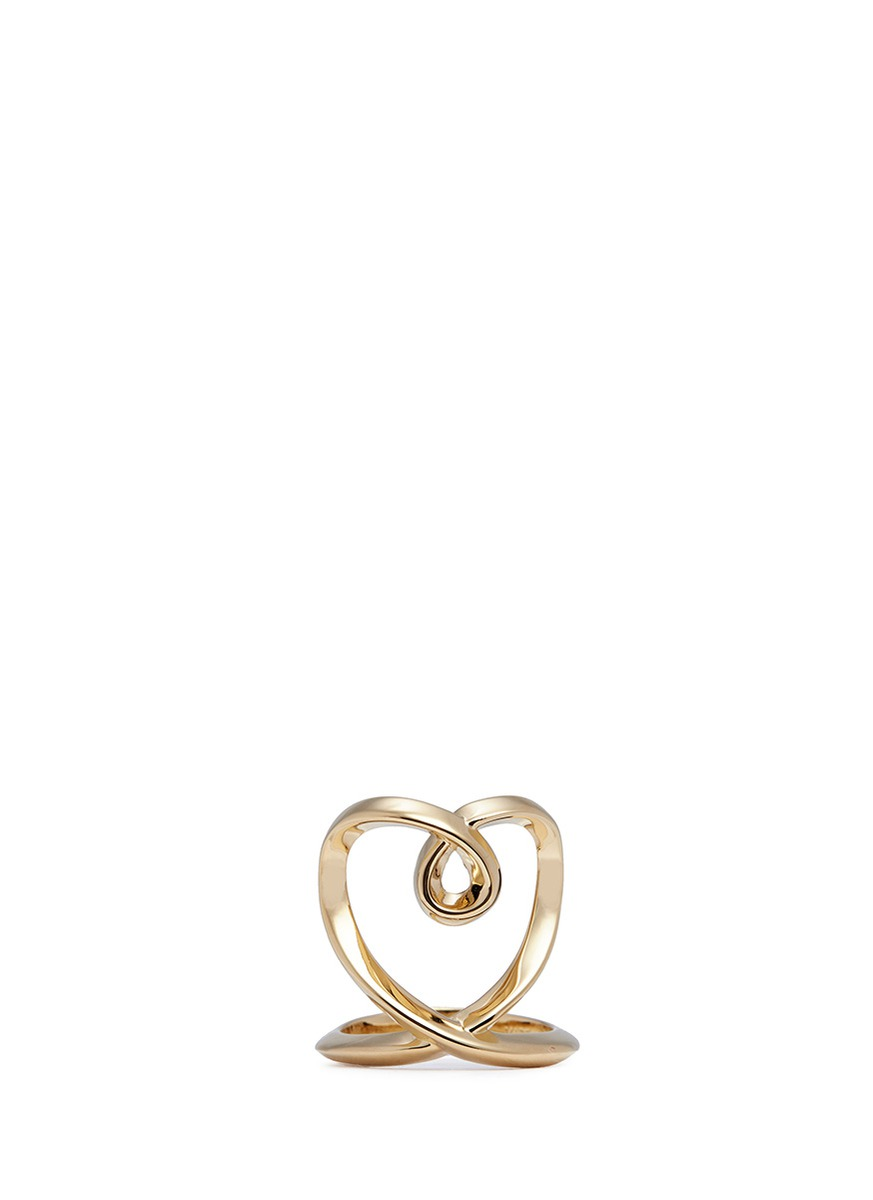'Heart' twist band ring