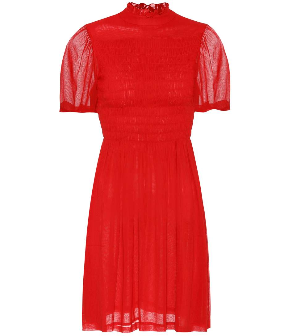 SMOCKED GEORGETTE DRESS