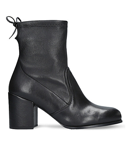 Stuart Weitzman Leathers Shorty leather ankle boots