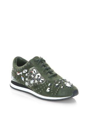 Studded Suede Runner Sneakers