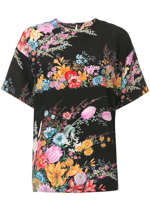 NO21 - PRINTED FLORAL T