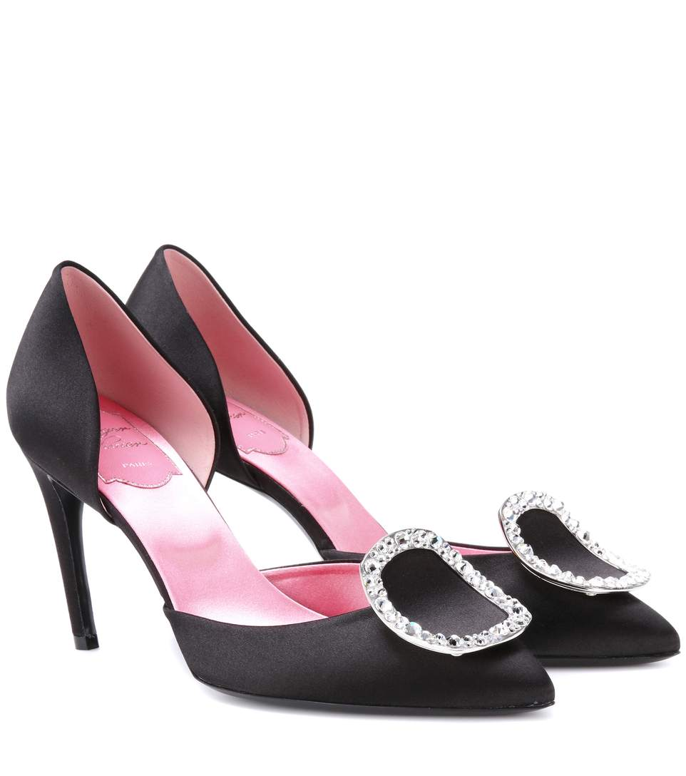 SATIN D'ORSAY PUMPS