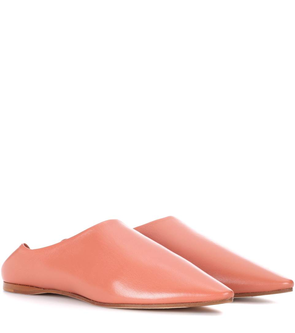 Acne Studios Leathers Amina leather babouche slippers