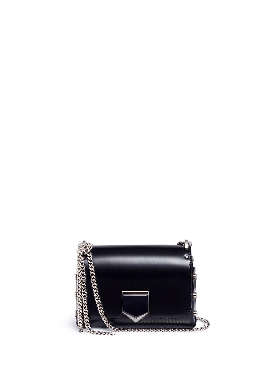 'Lockett Petite' stud leather crossbody bag