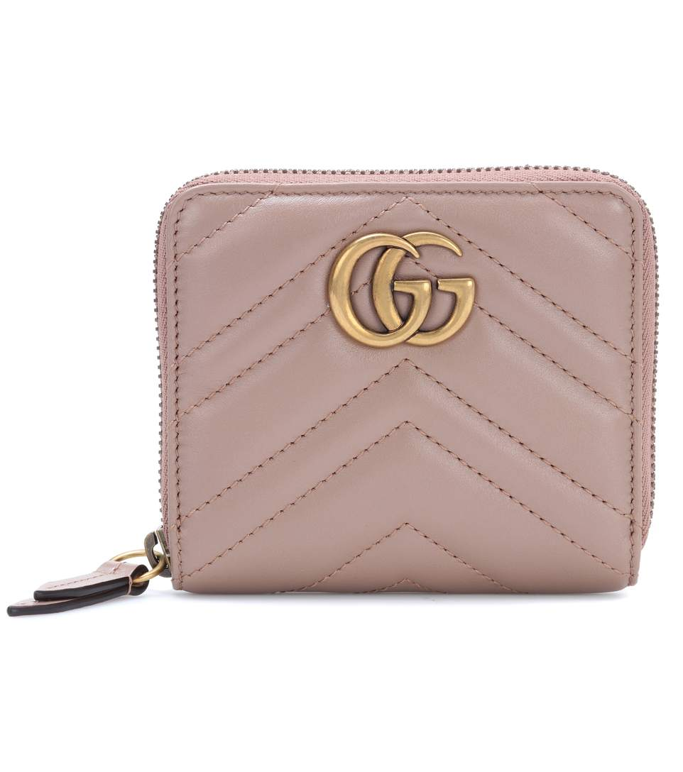 SMALL GG MARMONT 2.0 LEATHER ZIP WALLET, PINK