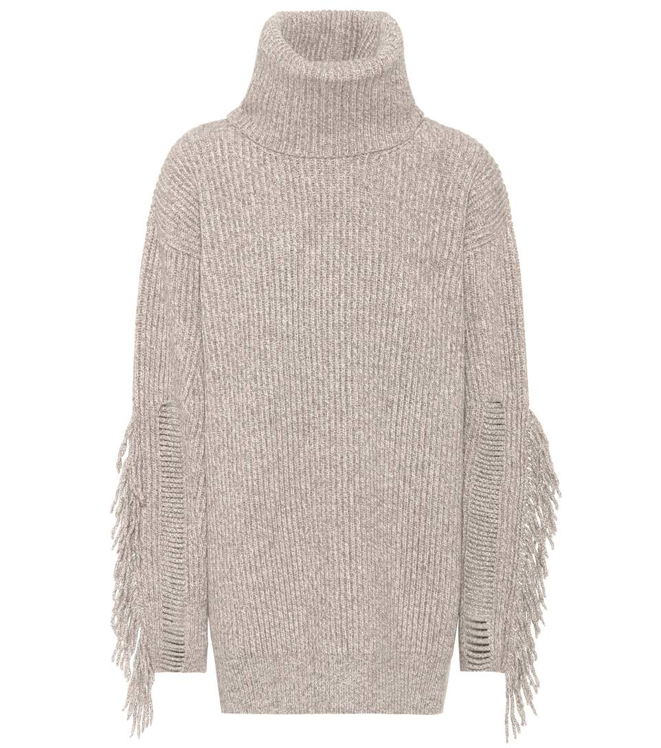 CASHMERE AND WOOL TURTLENECK SWEATER