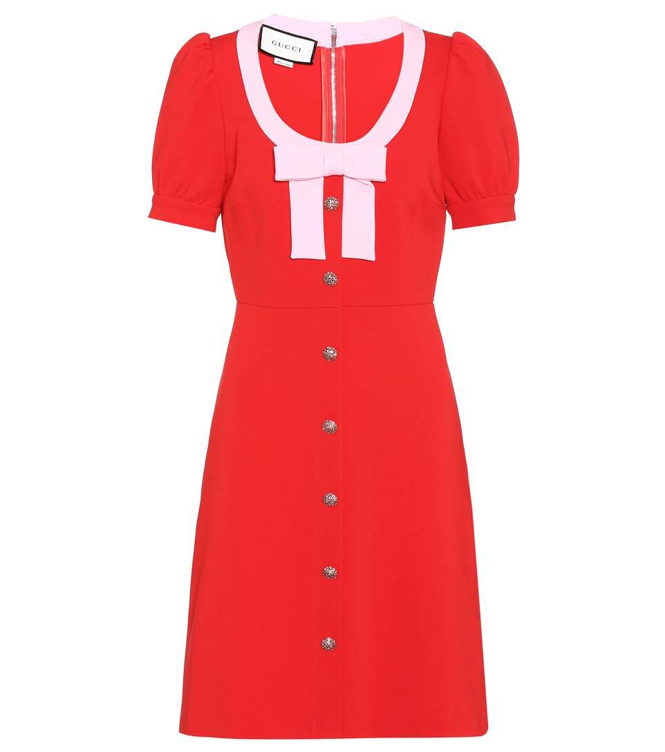 8b1246826 GUCCI Crystal-Embellished Dress, Red | ModeSens