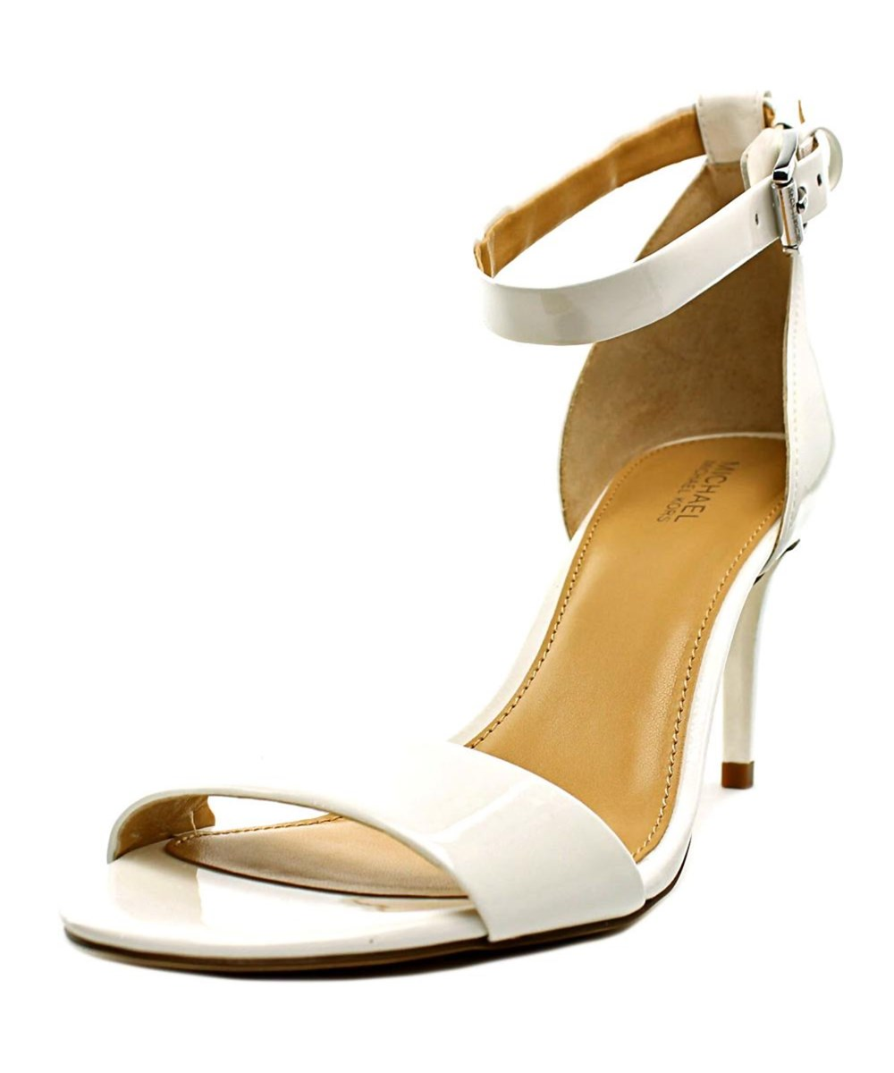 MICHAEL MICHAEL KORS SIENNA MD   OPEN TOE PATENT LEATHER  SANDALS