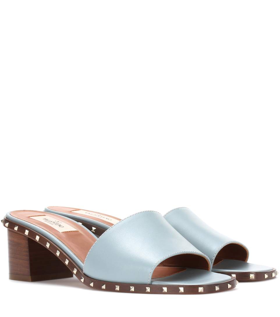 SOUL ROCKSTUD LEATHER SANDALS