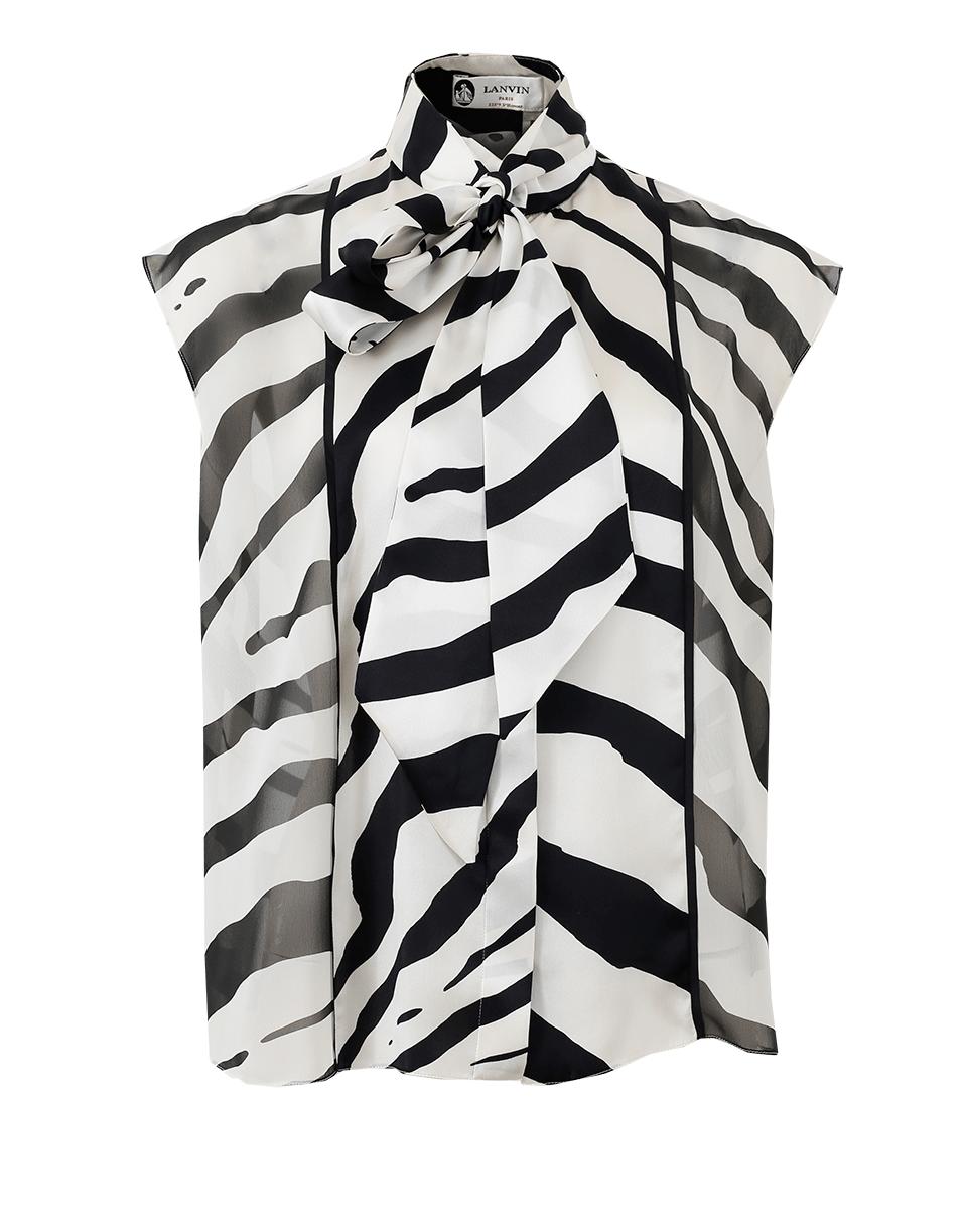 graphic stripe blouse