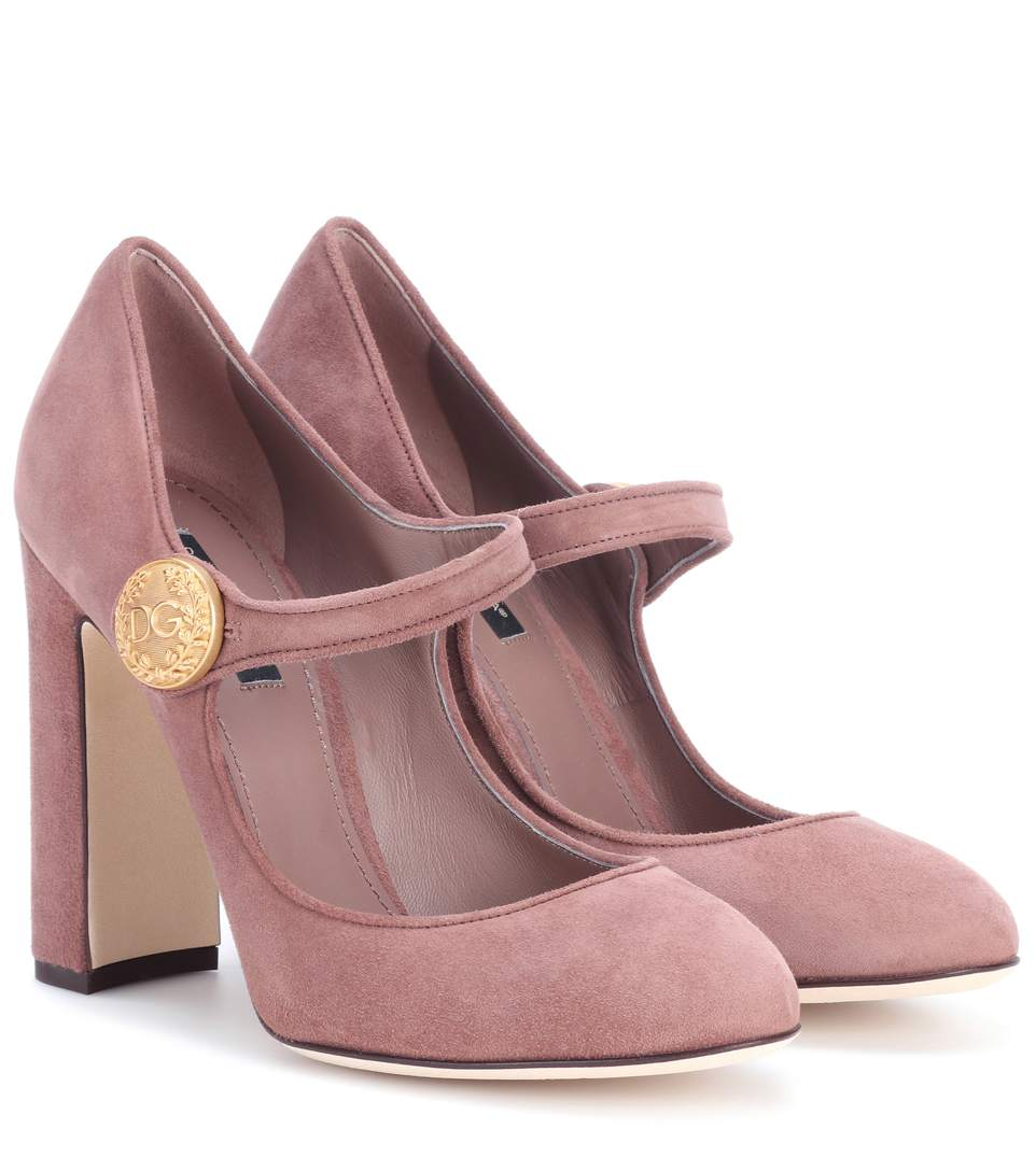 MARY-JANE SUEDE PUMPS