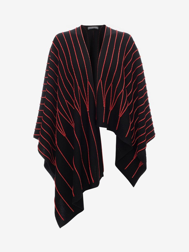 PIPED DETAIL PONCHO