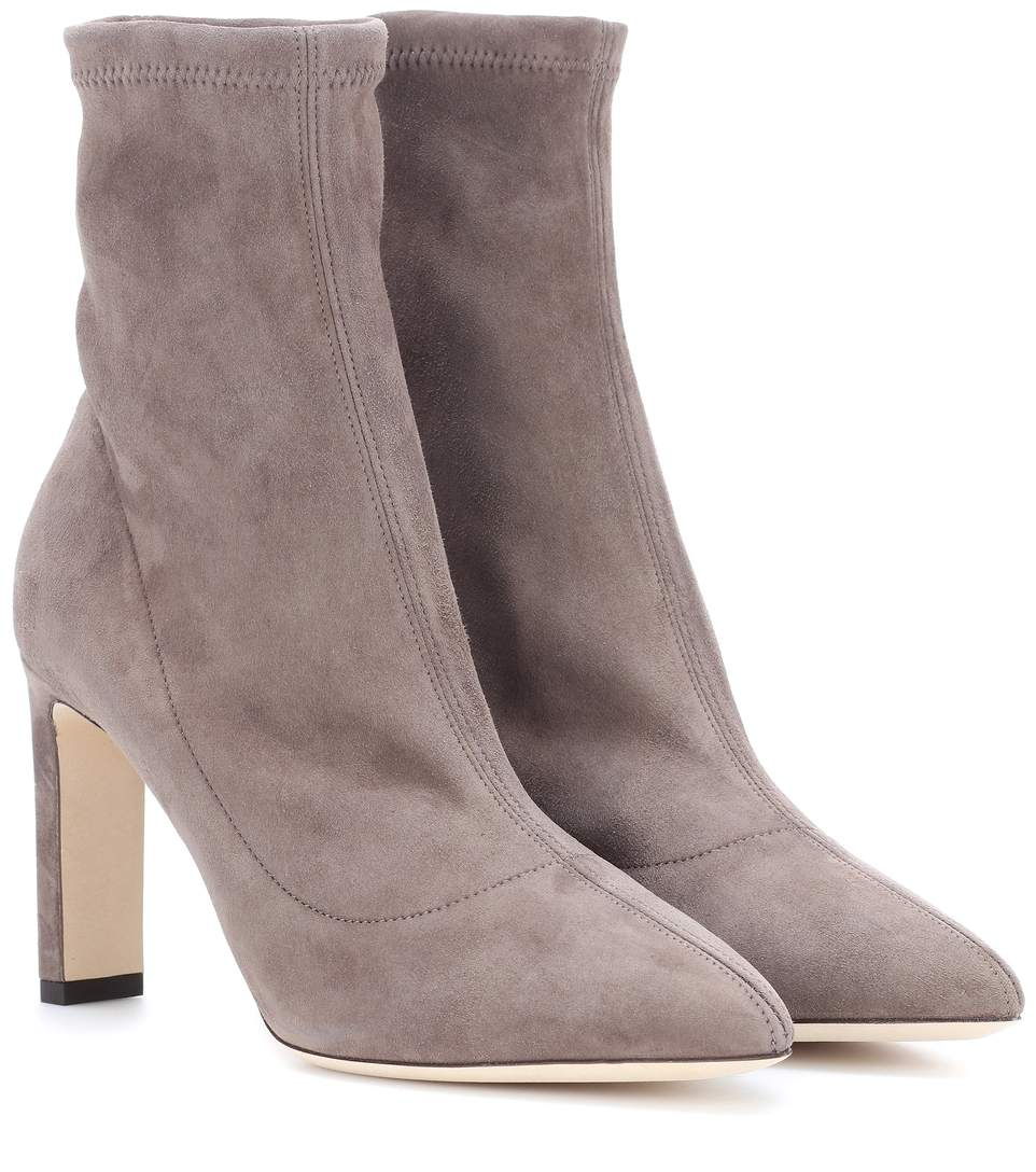 'Louella' suede ankle sock boots