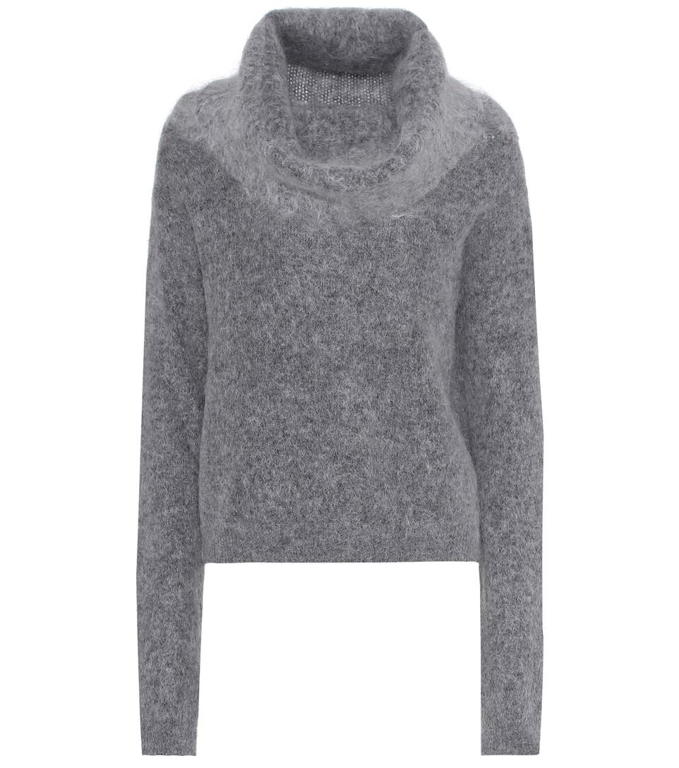 COWL-NECK MOHAIR AND WOOL-BLEND SWEATER