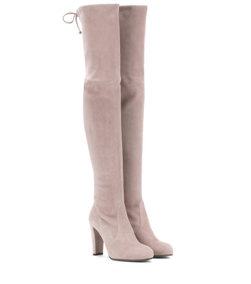 Suede Highland Over-The-Knee Boots 90