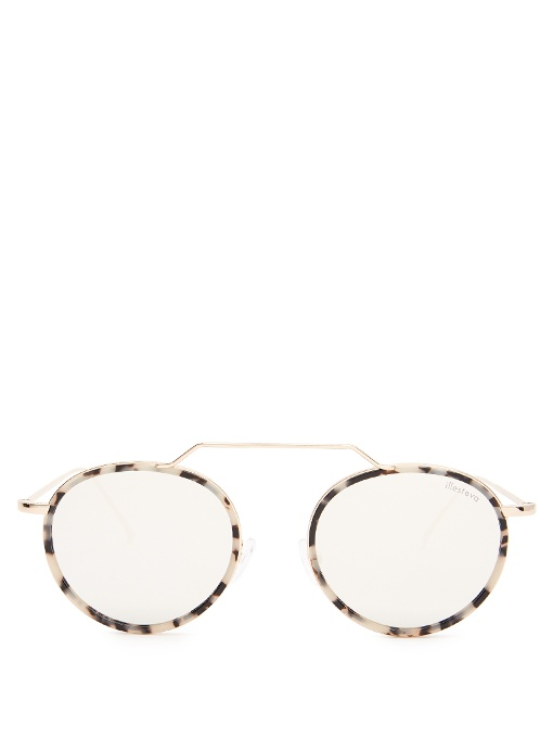 ILLESTEVA Wynwood Ace Ii Mirrored Sunglasses in Colour: Pale-Gold