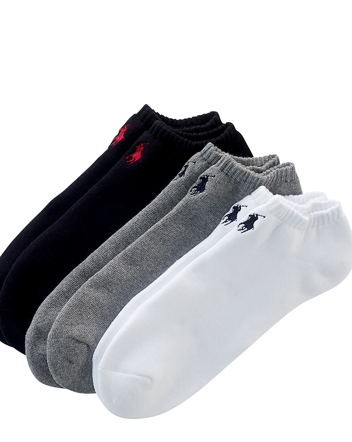 POLO RALPH LAUREN Low-Profile-Sock 3-Pack in White