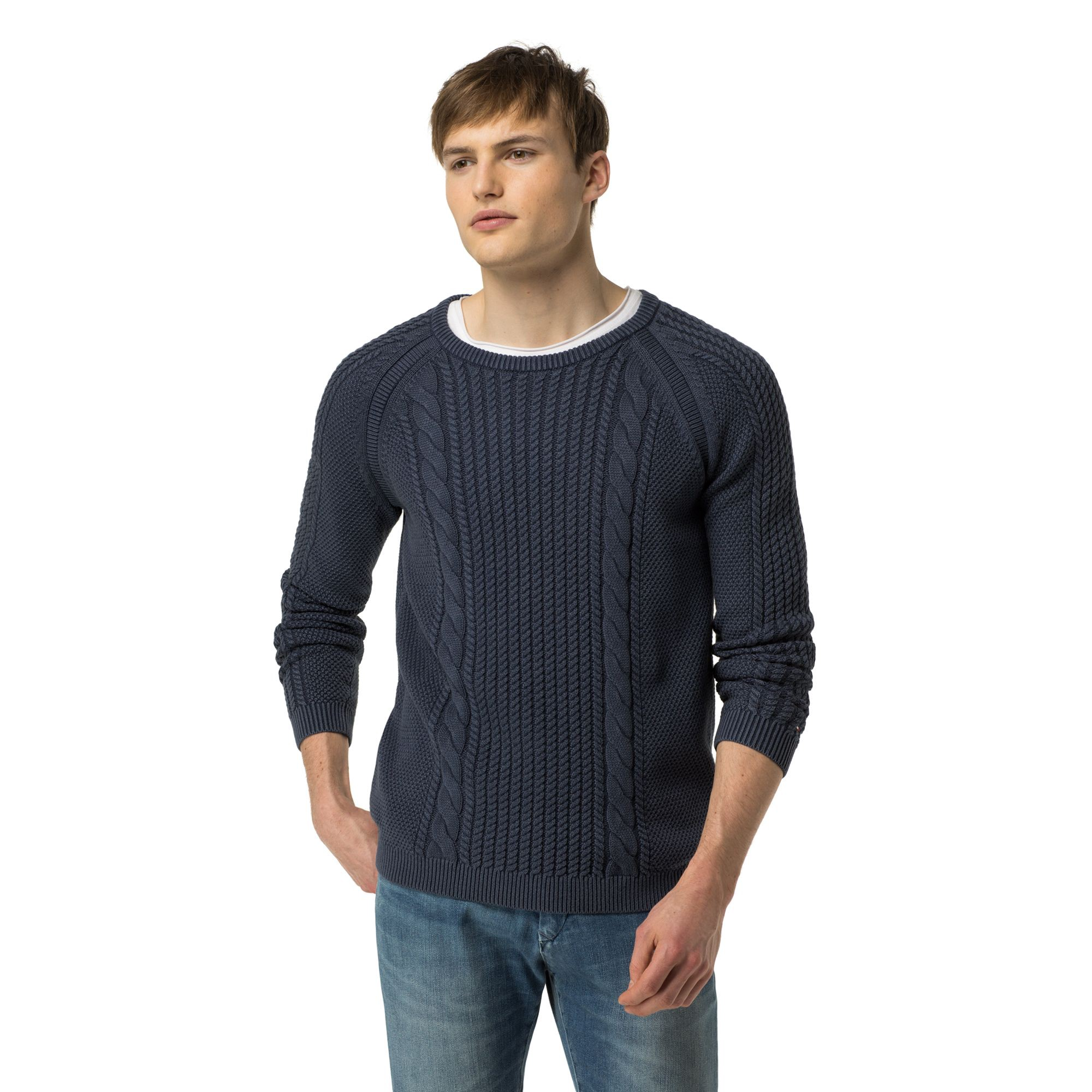 TOMMY HILFIGER Cableknit Sweater - Indigo