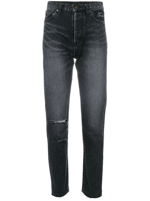 SAINT LAURENT Light-Wash Skinny Jeans