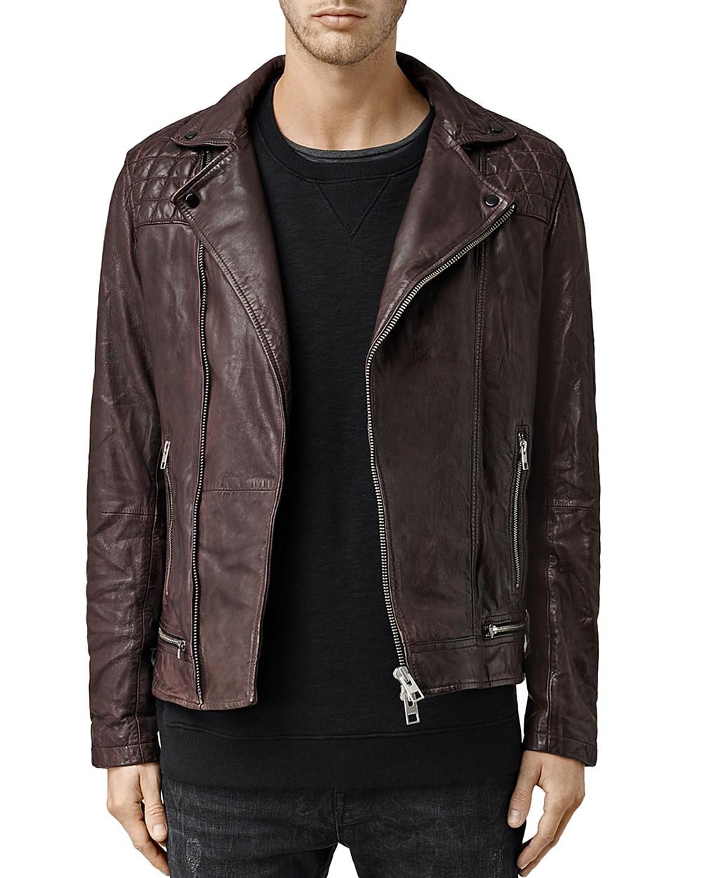 Allsaints Leathers ALLSAINTS Conroy Leather Biker Jacket