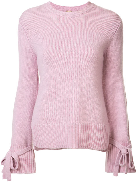 Adam Lippes  Crewneck sweater with bell sleeve