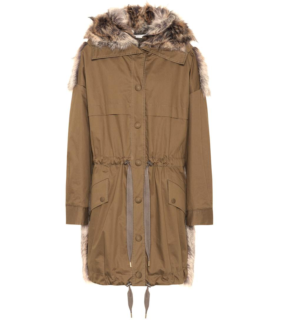 Gail Cotton-Twill And Faux-Fur Parka Coat