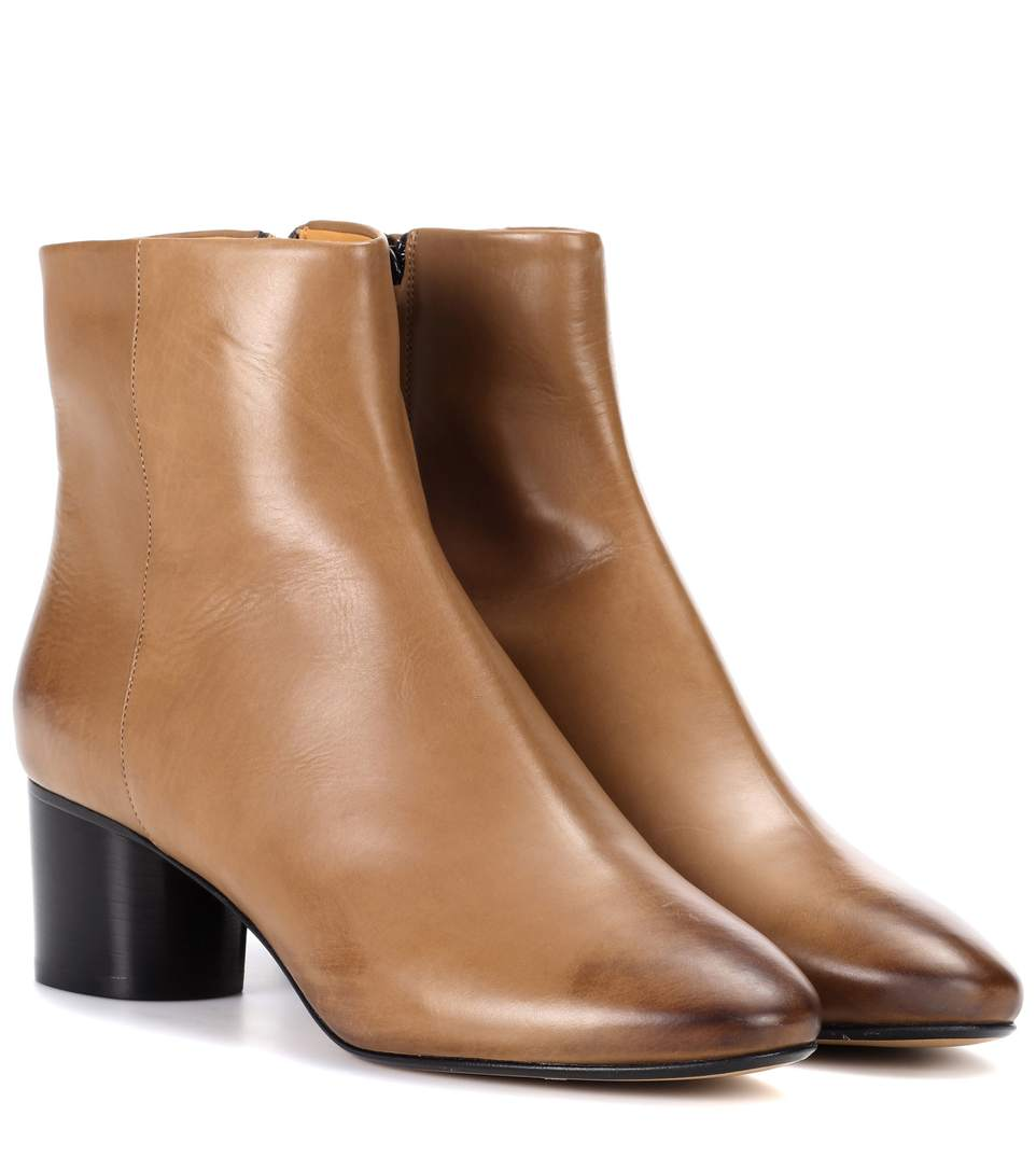 'Danay' calfskin leather ankle boots