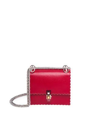 Fendi  Kan I Small Leather Chain Bag