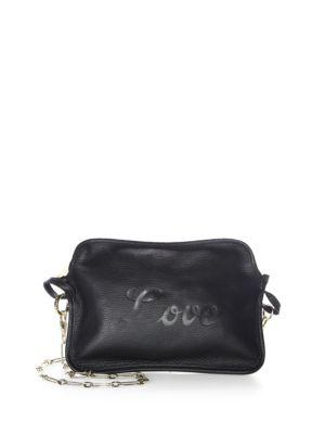Edie Parker  Amy Love Leather Convertible Clutch