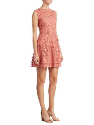 Red Valentino  Macrame Cotton Shift Dress