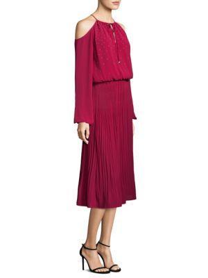 Michael Michael Kors  Embellished Cold-Shoulder Boot Dress
