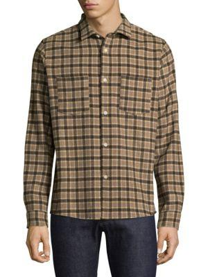 A.p.c.  Surchemise Windowpane Casual Button-Down Shirt