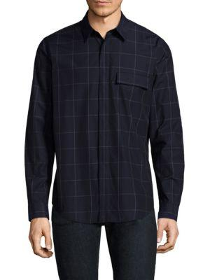 Theory  Large Mouline Cotton Casual Button-Down Shirt