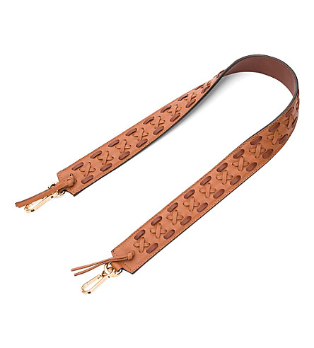 Loewe  Laced leather bag strap