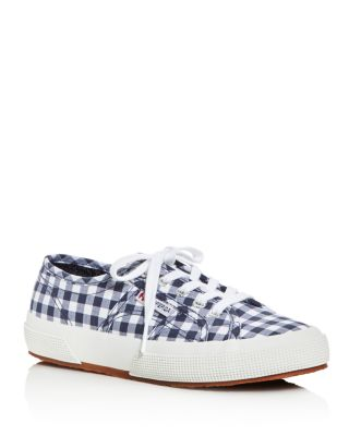 Superga  CLASSIC GINGHAM LACE UP SNEAKERS