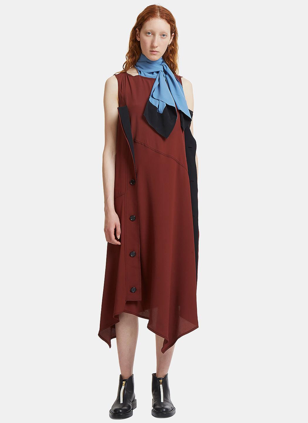 Marni  LONG NECK TIED CRÊPE DE CHINE DRESS
