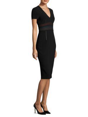 Diane Von Furstenberg  V-Neck Tailored Dress