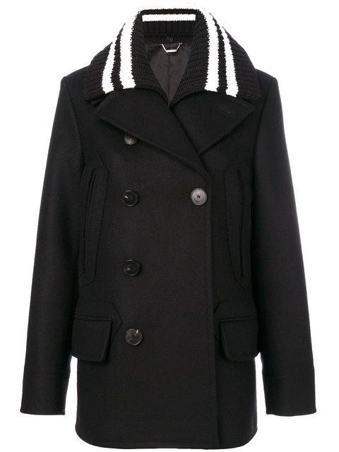 Givenchy  ribbed collar coat
