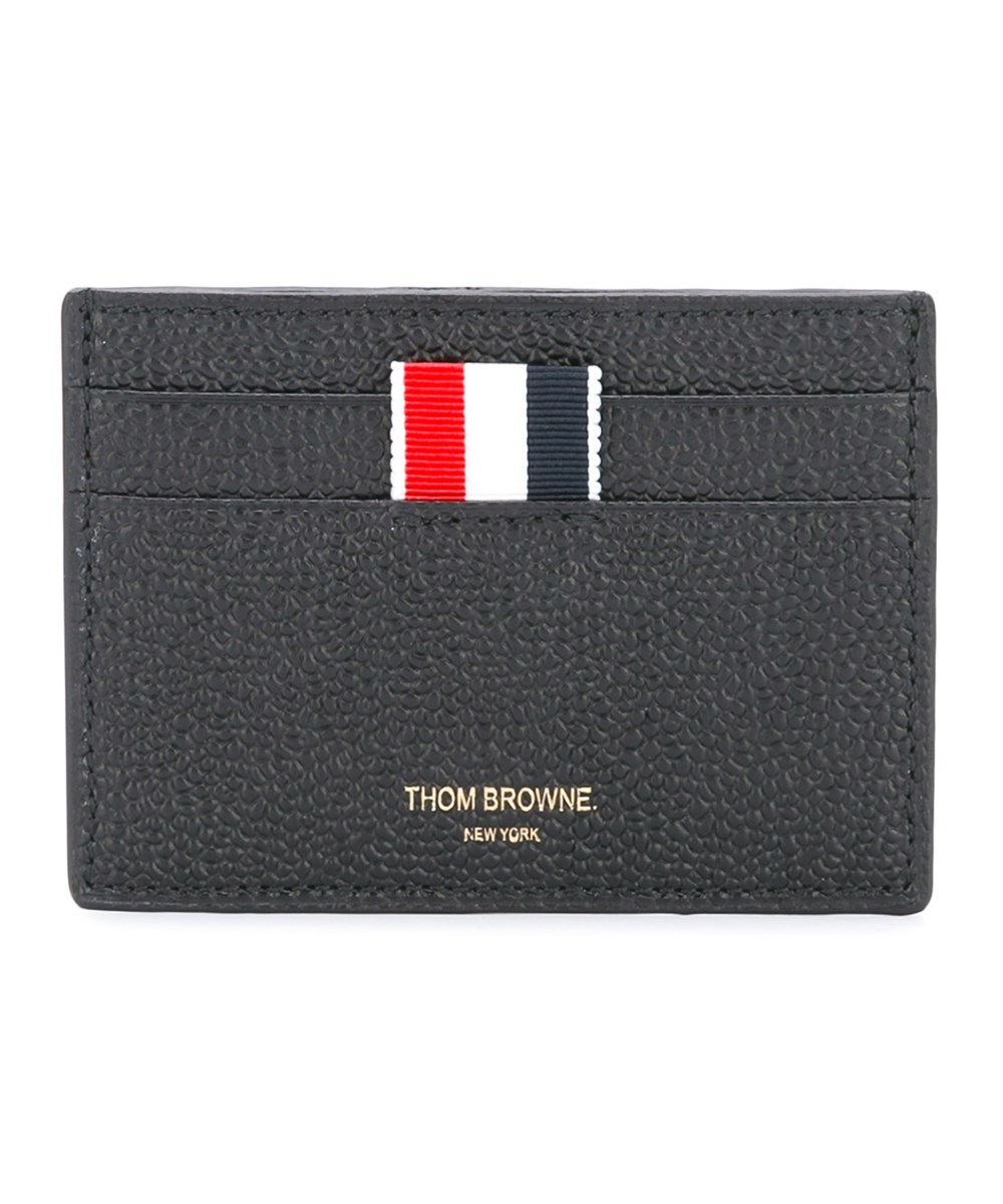 Thom Browne  THOM BROWNE MEN'S  BLACK LEATHER CARD HOLDER