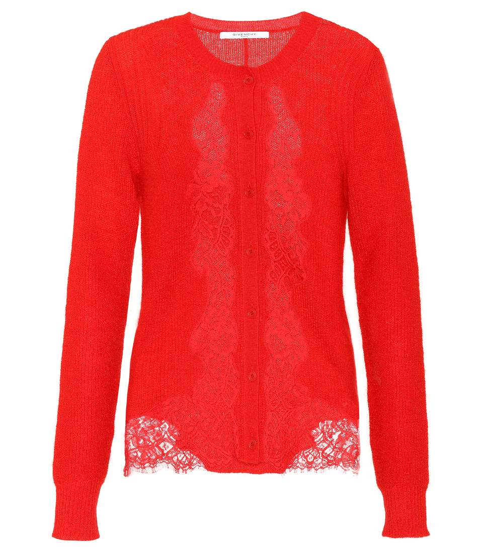 Givenchy  Mohair and wool-blend cardigan
