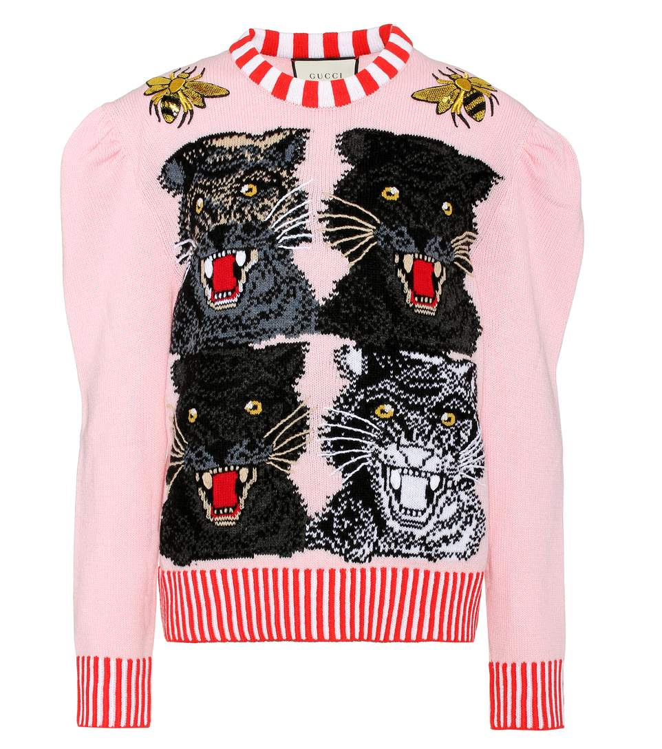 Gucci  SEQUINNED WOOL-BLEND SWEATER