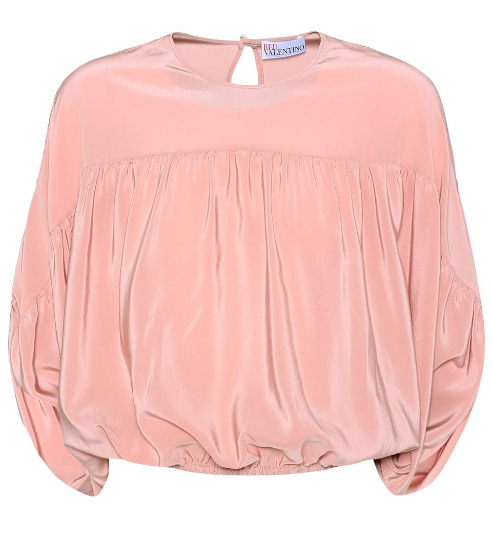 Red Valentino  SILK BATWING TOP