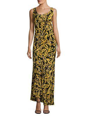 Diane Von Furstenberg  Ruffled Silk Gown