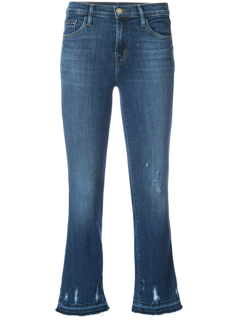 JBRAND SELENA MID RISE PHOTO READY CROP BOOT JEANS
