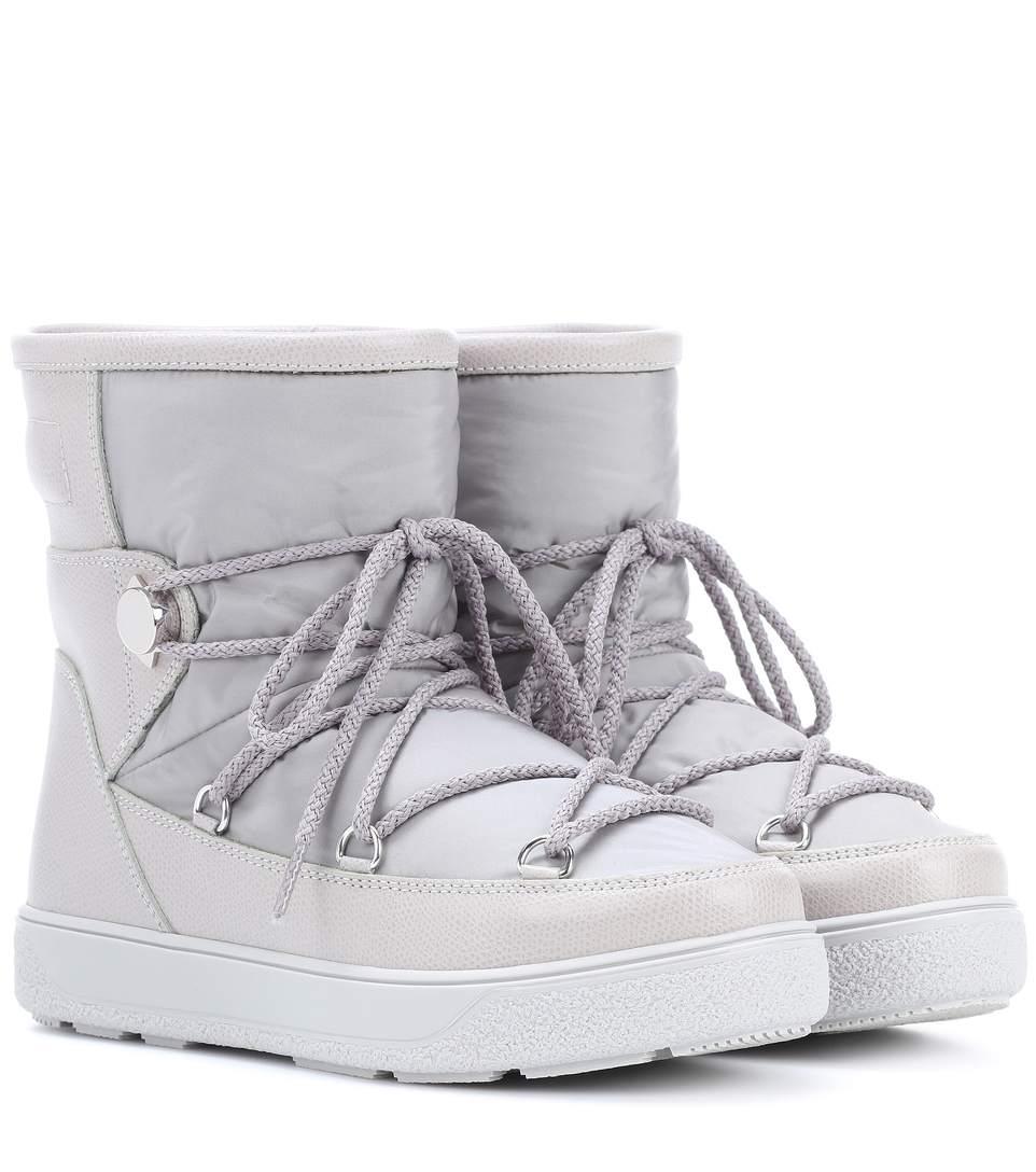 New Fanny nylon and leather aprés-ski boots